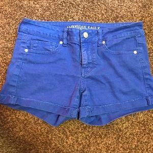 Royal blue American eagle shorts size 10